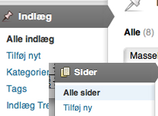 wordpress-indlaeg-eller-sider